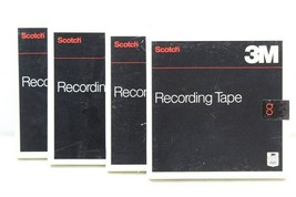 "Lot of 4 Scotch 3M Recording Tape 7"" Reel 808-1/4"" Wiseguy Steven Cannel... - $43.00"