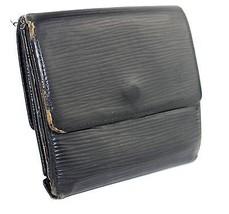 100% Authentic Louis Vuitton epi leather Black Bifold Wallet France MI1902 - $29.69