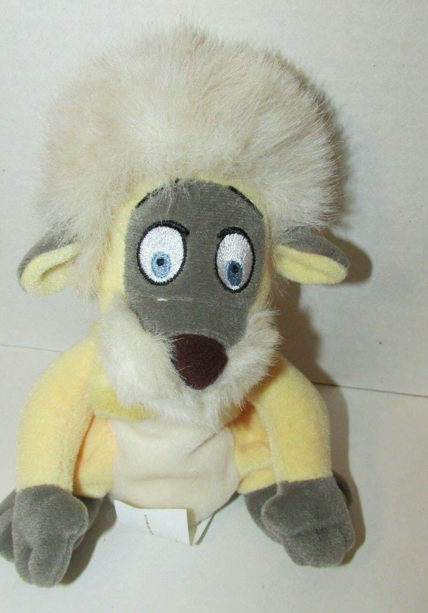 Gurgi Disney Mini Bean Bag Plush Black Cauldron Stuffed Animal Wood Troll Dog