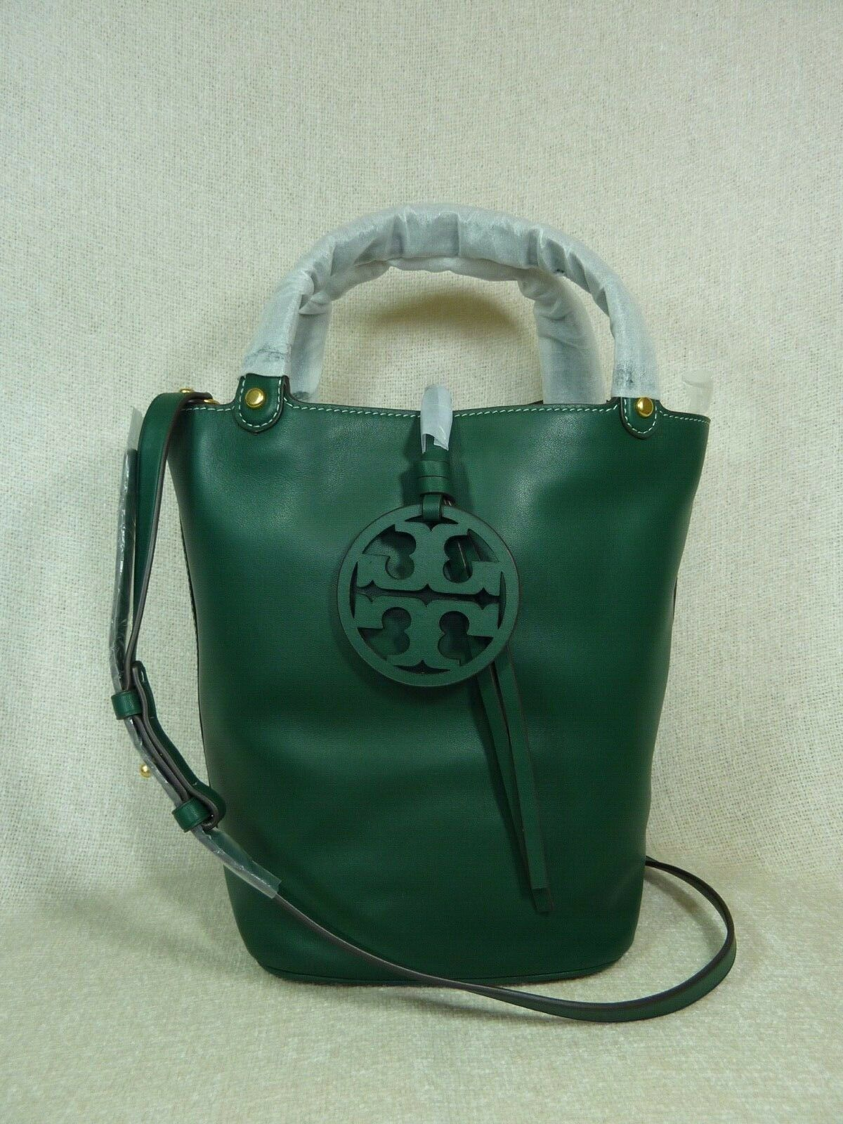 NWT Tory Burch Malachite Green Miller Bucket Tote