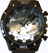 Wolf Fight Trendy Sports Style Unisex Gift Watch - $34.99