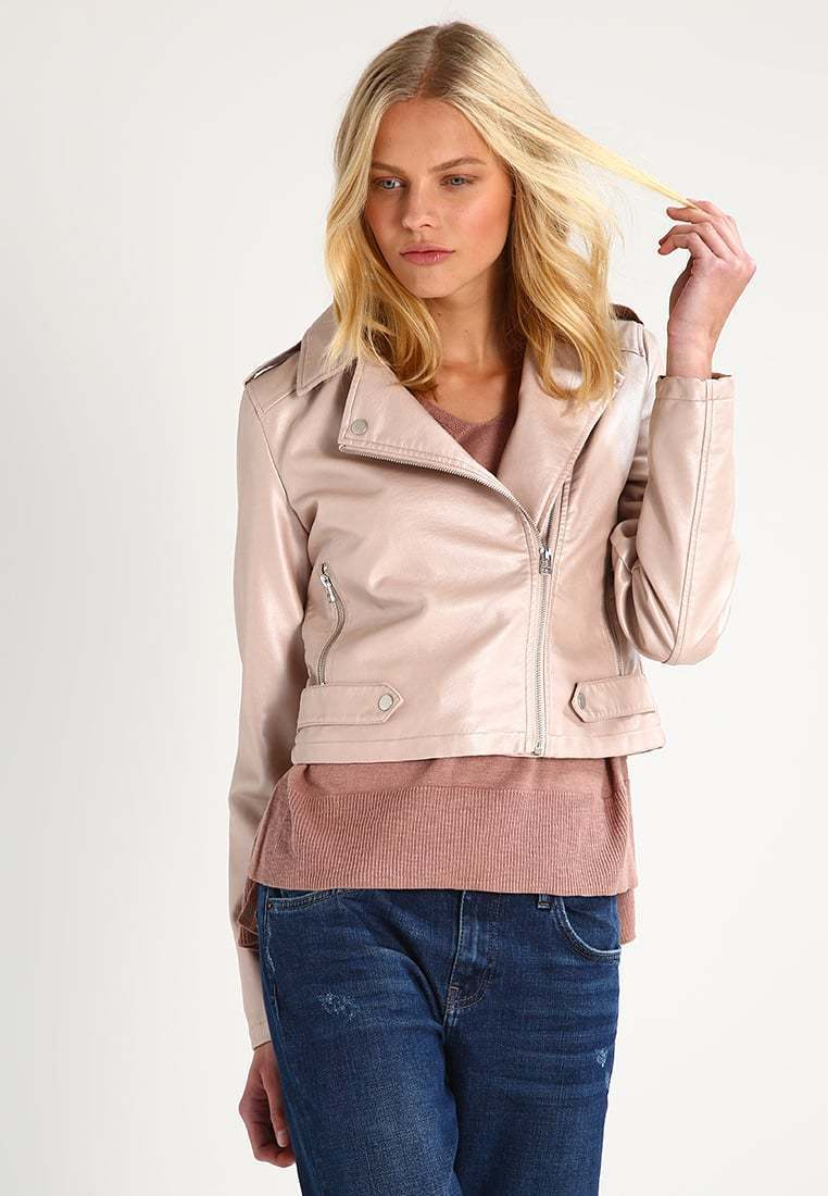 New Classic Slim Fit Stylish Soft Lambskin Leather Jacket for Women -81