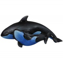 Lassen Dominion Orca Killer Whale Mom & Baby Calf Salt & Pepper Shakers - $16.82