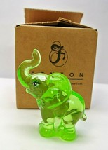"""2009 Fenton Glass Key Lime handpainted. """"Dotted Dreams"""" Elephant - Signed! - $49.99"""