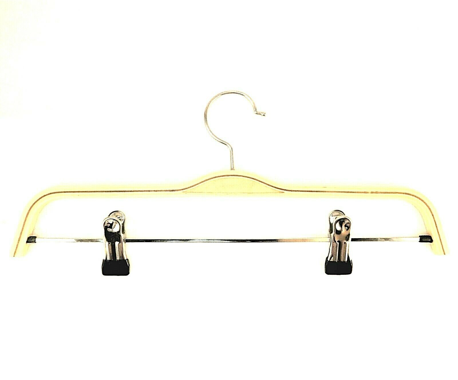Tosnail Clothes Wood Hangers w/ Metal Clips Natural Finish 10 Pack (See Details) - $9.89