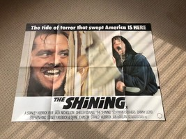 The Shining Original UK Quad Film Movie Poster. Jack Nicholson - $253.07