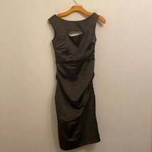 Davids Bridal Solid Green Keyhole Dress Size 4 - $48.51