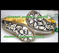 2.35 Ct Rose Antique Cut Diamond Victorian Vintage 925 Sterling Silver Bracelet - $558.09