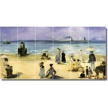 Edouard Manet Waterfront Painting Tile Murals BZ05657. Kitchen Backsplash Bathro - $180.00+