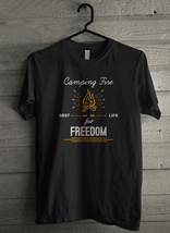 Camping Fire - Best Life For Freedom - Custom Men's T-Shirt (3791) - $19.13+