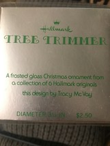 1973 Hallmark Tree Trimmer Frosted Glass Ornament Santa With Elves 250XH... - $9.95