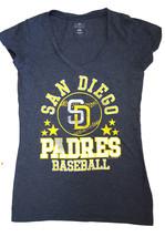 San Diego Pedros Women's V-Neck T-Shirt, Grey, Large - $11.87