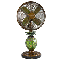 DecoBreeze Pinapple Mosaic Glass Table Fan & Lamp DBF0247 - $149.00
