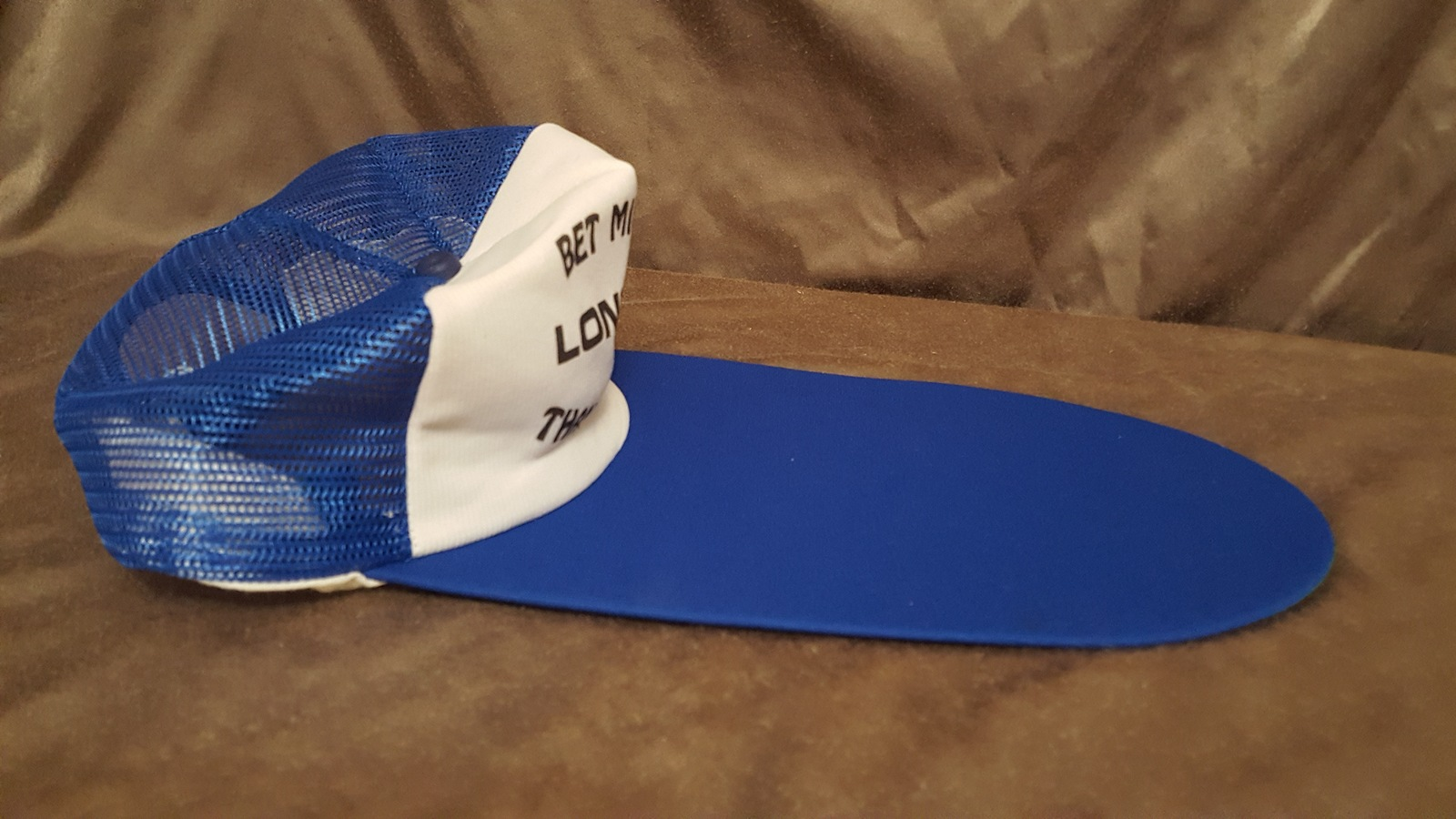 2a5bd0f4 Vintage Trucker Hat- You Bet Mines Longer and 50 similar items