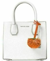 MICHAEL KORS  NWT Novelty Tangerine Pom Pom Purse-Charm  Orange Leather image 2