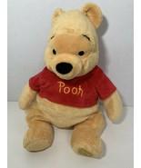 "Disney Store Winnie the Pooh plush stuffed animal 15"" sitting beanbag toy - $14.84"