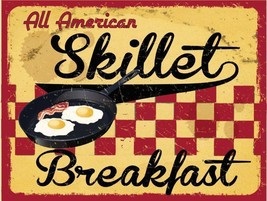 All American Skillet Breakfast Metal Sign - $19.95