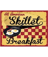 All American Skillet Breakfast Metal Sign - $18.95