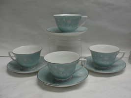 Set of FOUR (4) ROYAL WORCESTER China - BRIDAL ROSE Pattern - CUP & SAUC... - $24.95