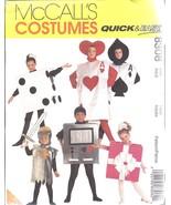 8308 non Découpé Mccalls Patron Couture Jeu de Cartes Halloween Costume Dés - $12.50