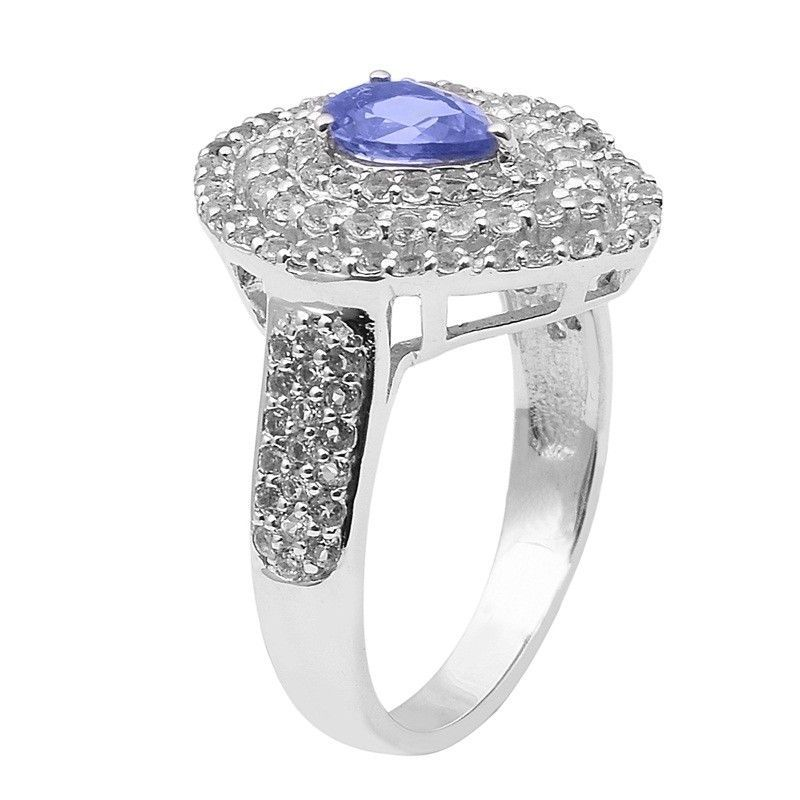 Superb Design Tanzanite 925 Sterling Silver Ring Shine Jewelry Size-9 SHRI1500
