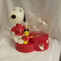 Tim Mee Toy Snoopy Joe Cool Gumball Machine Coin Bank 1965 Peanuts Woodstock - $8.86