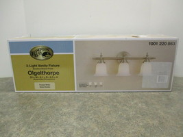 Hampton Bay Olgelthorpe 3 Light Fixture ( New ) Part # 1001220863 - $42.00