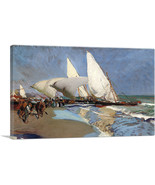 ARTCANVAS The Beach at Valencia 1908 Canvas Art Print by Joaquin Sorolla... - $43.99+