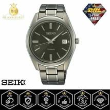 SEIKO Men's Watch Quartz Titanium Bracelet Sapphire Black Dial with Date SUR375  - $169.75