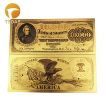 10pcs/lot 24K Pure USA Colorful Gold Banknote Rare 1863 Edition America ... - $10.80