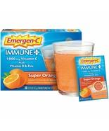 30-Pack Emergen-C Immune Plus Super Orange 1000mg Vitamin C Plus D & Zinc - $21.00