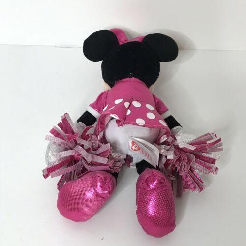 "Ty Sparkle Minnie Cheerleader Disney Beanie Plush Stuffed Animal 9"" Tall image 8"