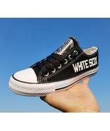 Chicago white sox shoes womens white sox sneakers baseball fashion canva... - $59.99+