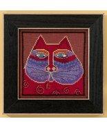 Red Cat aida cross stitch kit Laurel Burch Mill Hill - $16.20