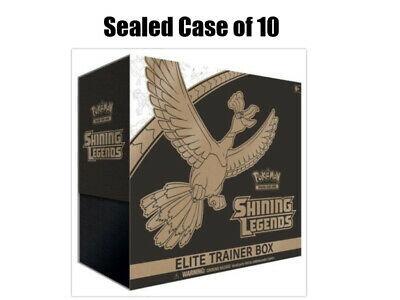 Pokemon TCG Shining Legends Elite Trainer Box Case of 10 Sealed