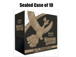 Pokemon TCG Shining Legends Elite Trainer Box Case of 10 Sealed  - $399.95