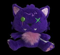 "Monster High Cat Crescent Claudeen Wolf Plush 6"" Purple Gothic Goth - $15.79"