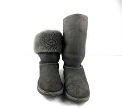 Ugg Australia Sz 5 Classic Tall Big Kids Girls Grey Suede Sheepskin Winter Boots - $29.52