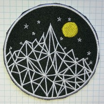 Glow Mountain Star Moon  Embroidered Cloth Iron On Patch   Aufnäher - $4.59