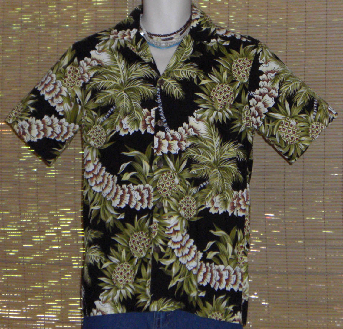 86506417 Hilo Hattie Hawaiian Shirt Black Green and 50 similar items. Hilo hattie  green sm 1