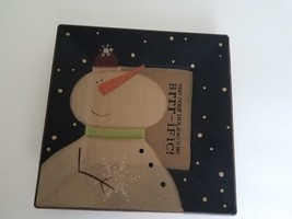 The Hearthside Collection Wooden Plate - Snowman Christmas Barbara Lloyd... - $9.89