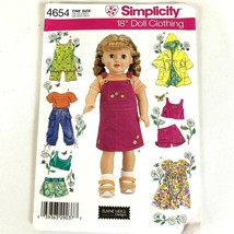 Simplicity 18 inch Doll Clothes Sewing Pattern 4654 fits American Girl - $12.49