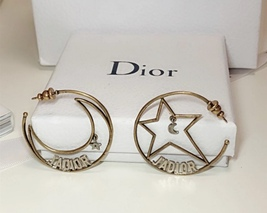 AUTHENTIC Christian Dior 2018 LIMITED EDITION J'ADIOR LARGE HOOP EARRINGS GOLD  image 7