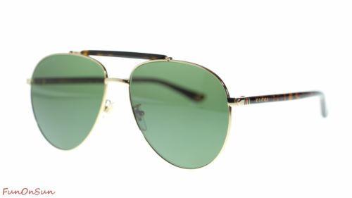 5e7ccafcf35 12. 12. Previous. Gucci Men s Aviator Sunglasses GG0014 006 Gold  Havana GreenPolarized Lens 60mm