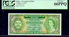 """BELIZE P33c $1 """"QUEEN ELIZABETH II' 1976 PCGS 66PPQ - $475.00"""