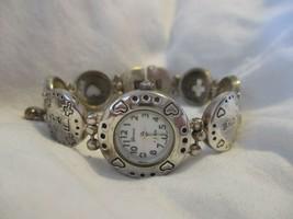 Geneva Faith, Hope, & Love Silver Toned Bracelet Wristwatch - $29.00