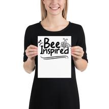 Bee Inspired fun 8x 10 poster - $18.95