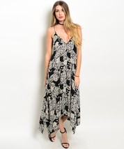 Sexy Juniors Black White Party Cruise Club Beach Handkerchief Hem Dress - $29.99
