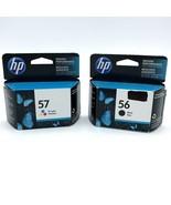 HP 56 57 Combo Ink Cartridge Tri-Color 2019 Black 2017 Sealed Set - $19.99