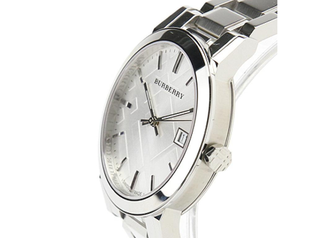 Burberry Mens Large Check Silver Dial Stainless Steel Quartz Watch BU9000 image 2